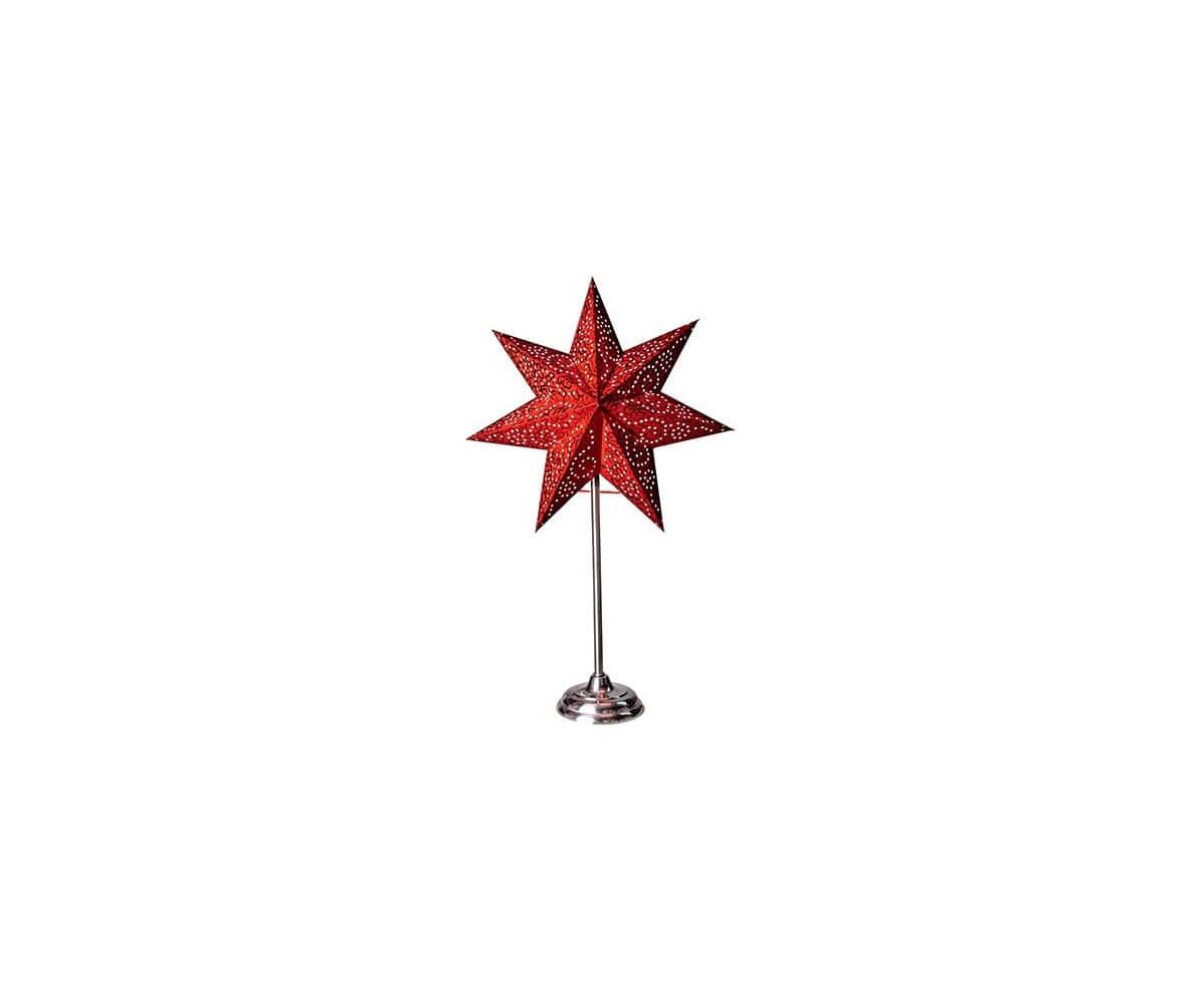 Antique Julstjärna på fot 55cm Ljustema se