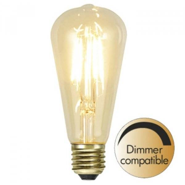 Kolfilament Lyktlampa Oval LED E27 2200K 140lm 1.8W