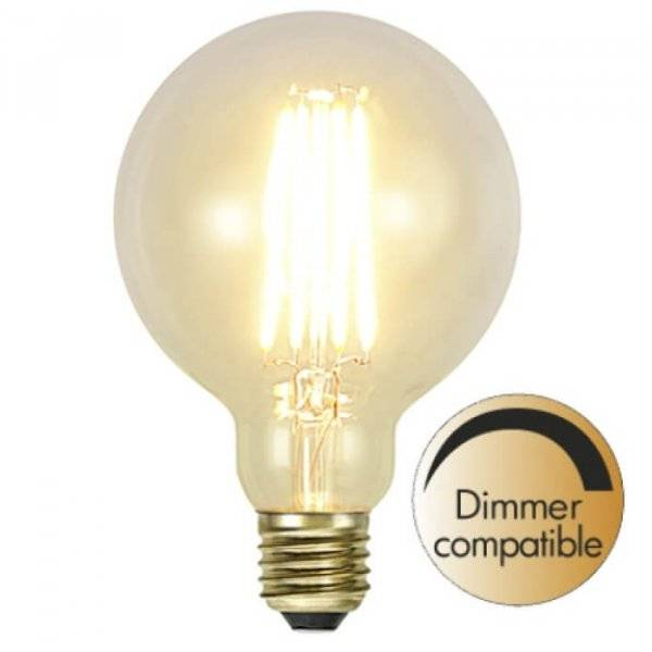 Kolfilament Lyktlampa Glob 95mm LED E27 2200K 320lm 3.6W
