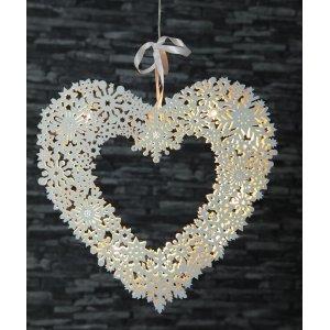 Hjärta med Snöflingemönster LED