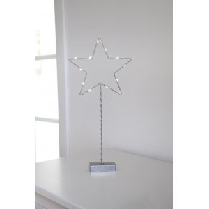 Metallstjärna På Fot LED