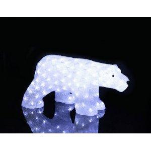 Crystal Isbjörn LED 60cm