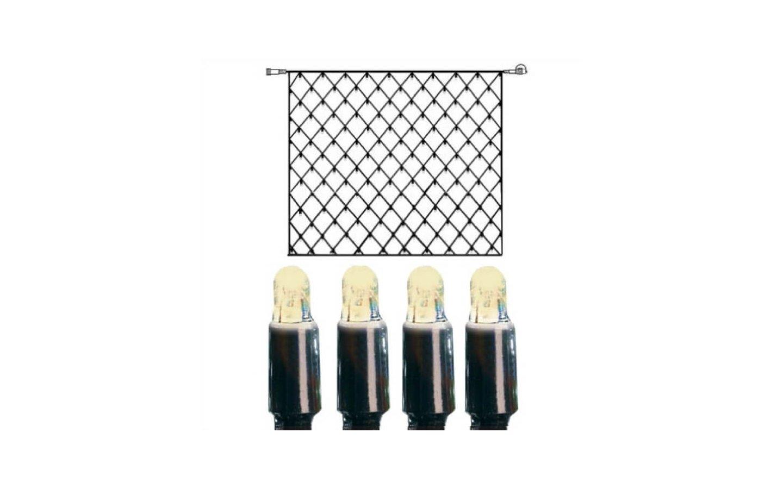 Ljusnät System LED 3x3m Varmvit Svart Kabel