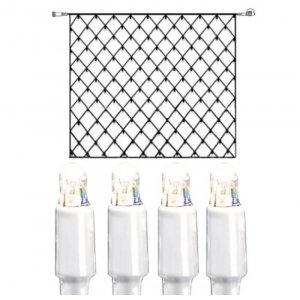LED Ljusnät 3x3m Kallvit 192L Vit Kabel