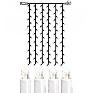 LED Gardin 1x2m Kallvit 102L Vit Kabel