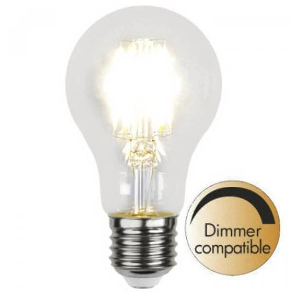 Illumination LED Klar filament E27 7,5W 2700K Dimmerkomp.