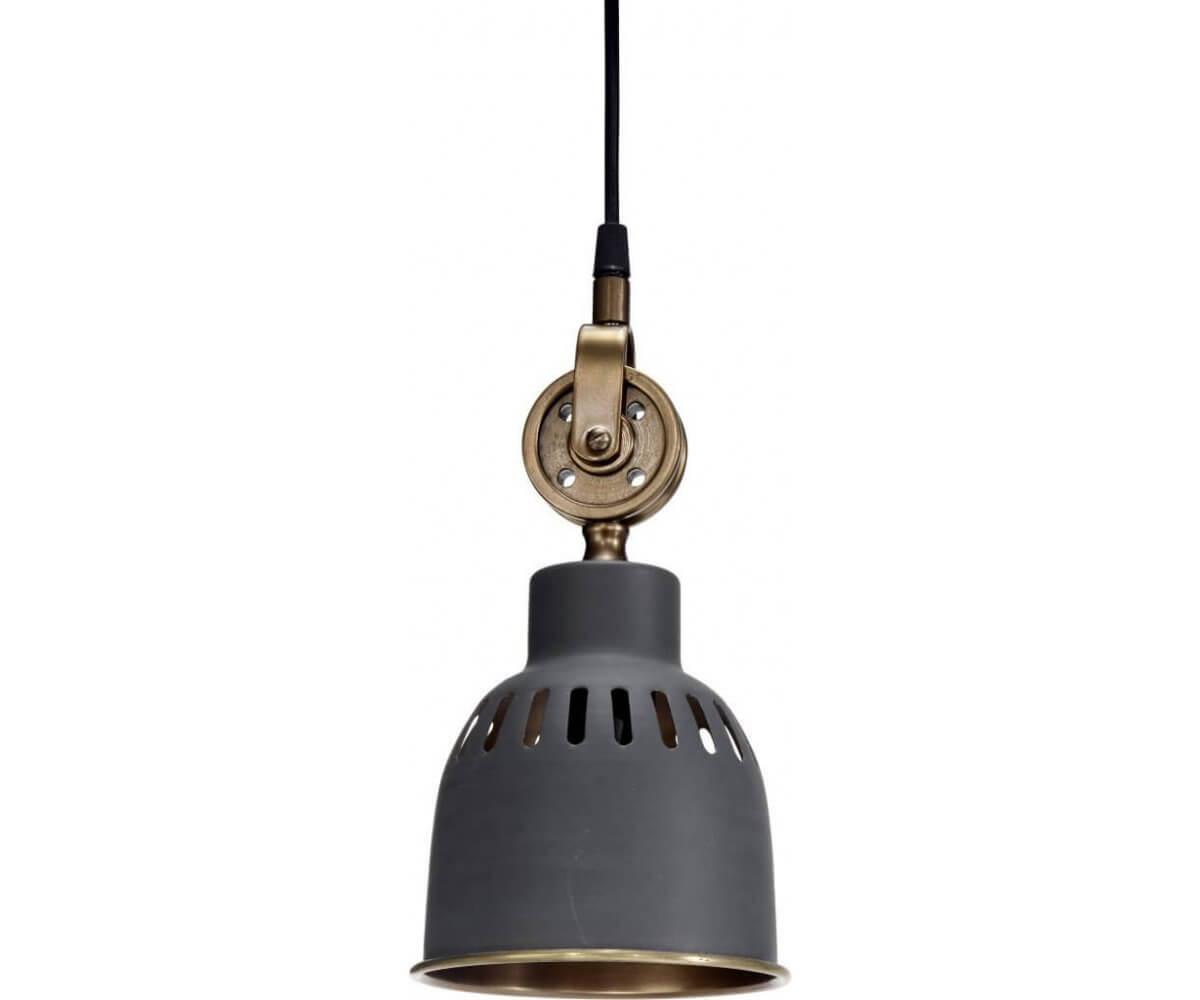 Cleveland tak /fönsterlampa 14cm grå/mässing   ljustema.se