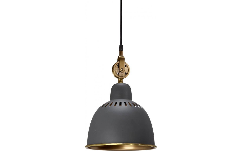 Cleveland Tak-/Fönsterlampa 23cm Grå/Mässing