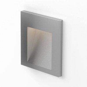 Tess SQ Vägglampa LED Silvergrå