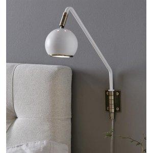 Coco Vägglampa Vit/Antik