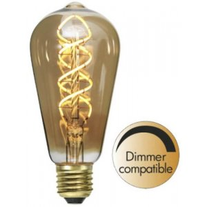 LED-Lampa Drop, Amber E27 2000K 650lm 10W