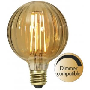 LED-Lampa Glob 95mm, Amber E27 2000K 150lm 2,5W