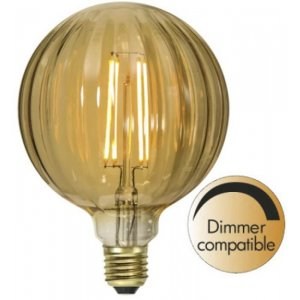 LED-Lampa Glob 125mm, Amber E27 2000K 160lm 2,5W