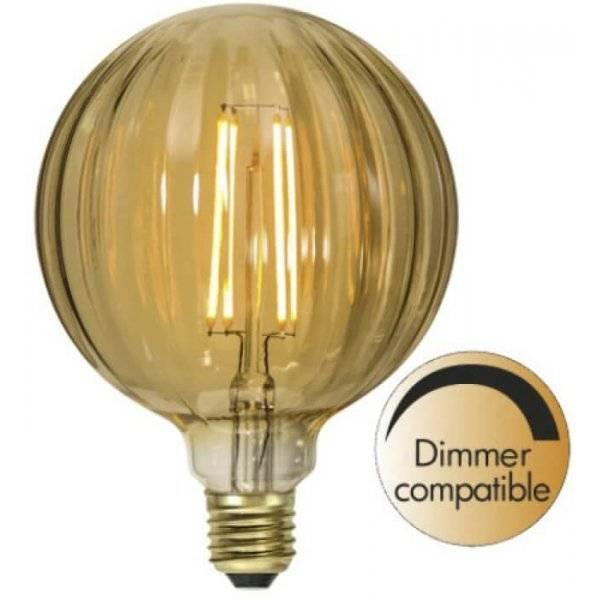 LED-Lampa Glob 125mm, Amber E27 2000K 160lm 2,5W(15W)