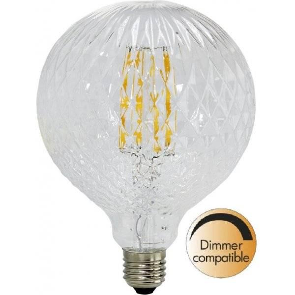 LED-Lampa Drop 125mm, Cristal E27 2200K 140Lm 2W(14W)