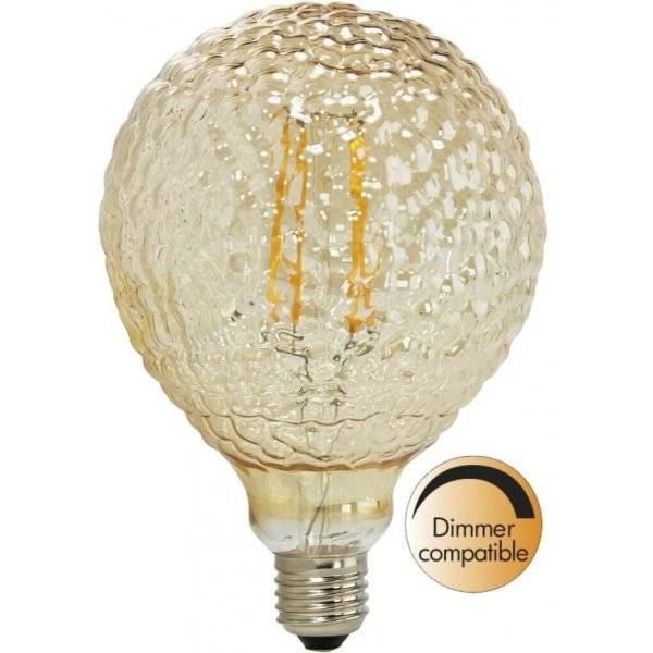 LED-Lampa Drop 125mm, Glamour E27 2200K 140Lm 2W(14W)
