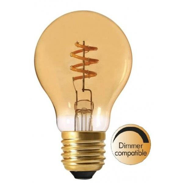 LED-Lampa Normal, Gold E27 2000K 130lm 4W