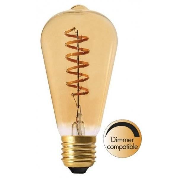 LED-Lampa Lyktlampa, Gold E27 2000K 130lm 4W
