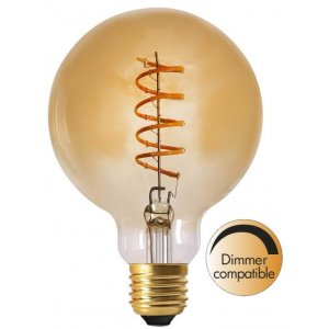LED-Lampa Glob 95mm, Gold E27 2000K 130lm 4W