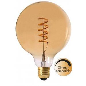 LED-Lampa Glob 125mm, Gold E27 2000K 130lm 4W