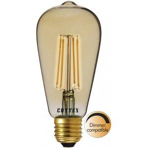 LED-Lampa Lyktlampa, Amber E27 2200K 550lm 6W(40W)