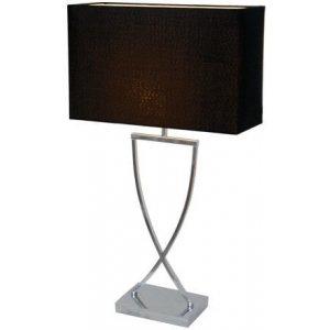 Omega Bordslampa 52cm Krom/Svart