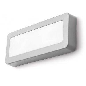 Reno SQ Direct Vägglampa LED Grå