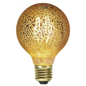 LED-Lampa Glob 80mm, Guldspräcklig E27 1900K 160lm 3,5W(16W)