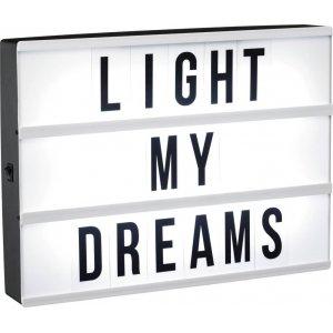 Ljuslåda LED A4 med 90 bokstäver
