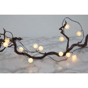 Dekorationsslinga LED Globe Frostad