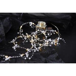 Dekorationsslinga Vita Pärlor 20L LED