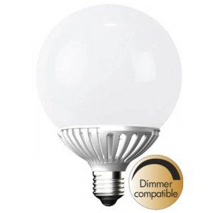 LED-Lampa Glob 125mm, Opal E27 2700K 750lm 9W(57W)