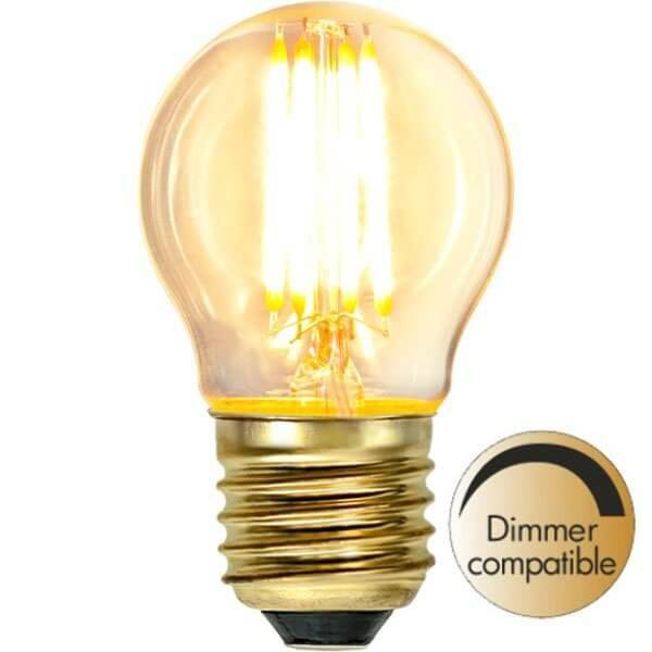 LED-Lampa Klot, E27 2100K 350lm 4W Soft Glow