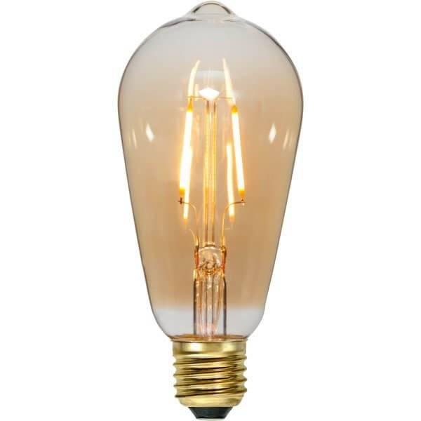 LED-Lampa Lyktlampa, Amber E27 2000K 80lm 0,75W(8W)