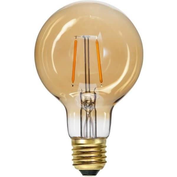 LED-Lampa Glob 80mm, Amber E27 2000K 80lm 0,75W(8W)