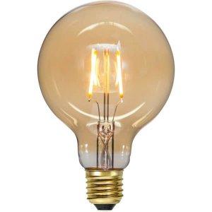 LED-Lampa Glob 95mm, Amber E27 2000K 80lm 0,75W(8W)