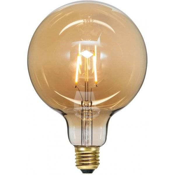 LED-Lampa Glob 125mm, Amber E27 2000K 80lm 0,75W(8W)
