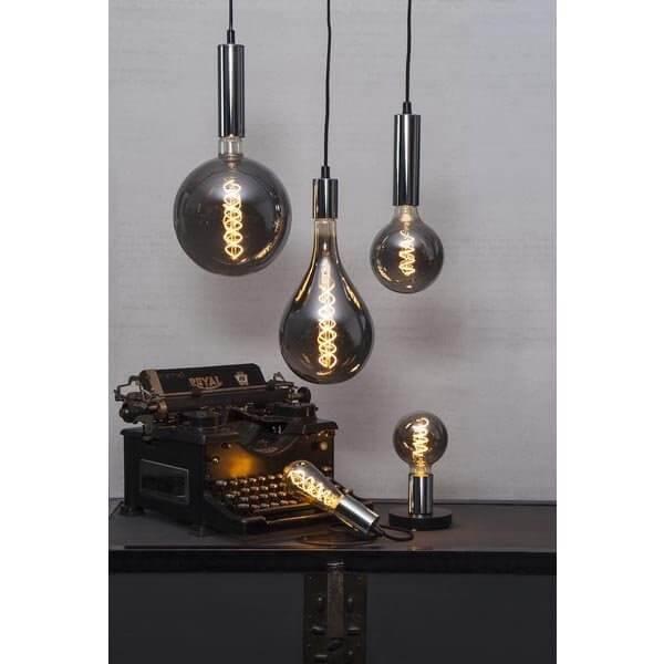 LED-Lampa Drop, Heavy smoke 165mm, E27 2000K 110lm 6,5W(11W)