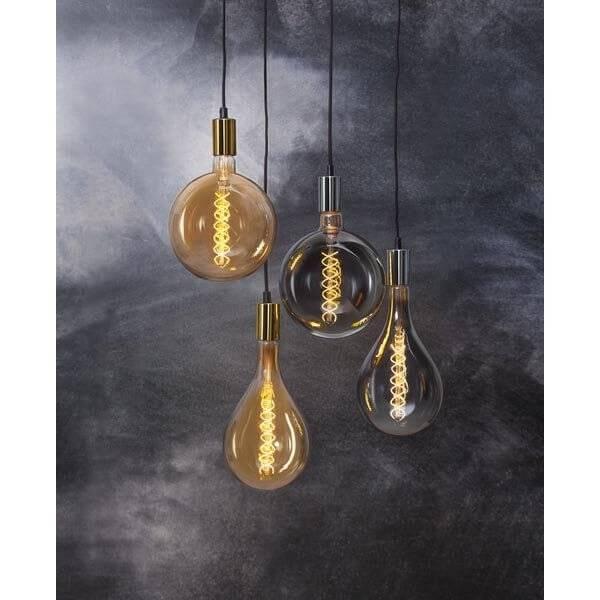 LED-Lampa Glob, Heavy Smoke 200mm, E27 2000K 110lm 6W(11W)