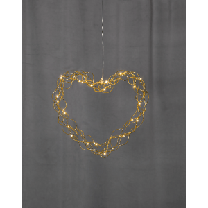 Curly Krans Hjärta 30cm LED