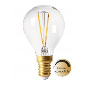 LED-lampa Klot, E14 Vintage LED Filament 150lm, 2200K, 2W