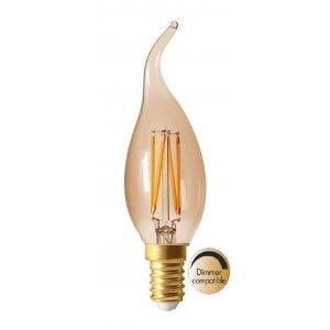 Elect LED-lampa Kron, Amber E14, 2100K, 170lm, 3,5W