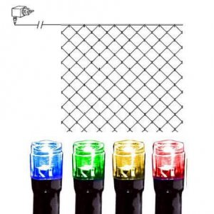 LED Ljusnät 3x3m Färgmix Svart Kabel