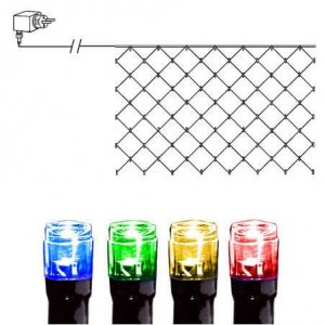 LED Ljusnät 2x1m Färgmix Svart Kabel