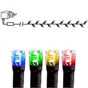 LED Istappsslinga 4x0,4m Varmvit Svart Kabel