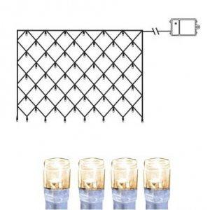 Dura Batteridriven LED Ljusnät Varmvit Transparent