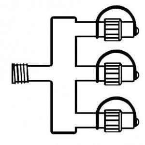 System LED stamkabel 2m 20 kopplingar