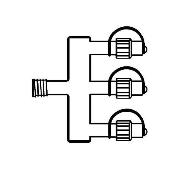 System 24 Förgrening 1m 3 Kopplingar