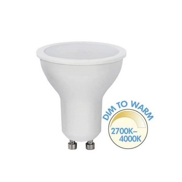 Spotlight LED GU10 Dim To Warm, 4000-2700K 450lm 5,5W(40W)