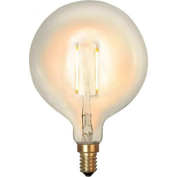 LED-Lampa Glob, 80mm E14 2100K 90lm 1W(9W)